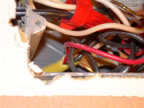 ceiling electrical box only has red and black wires no