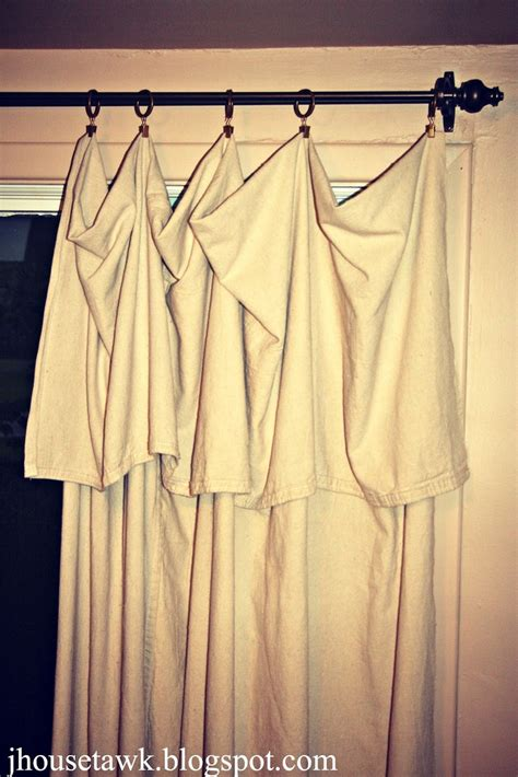 drop cloth curtains diy craftiness