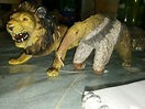 Vintage AAA Giant Anteater and Lion Hard painted rubber ...