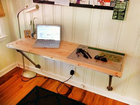 how to make a wall mounted desk 15 diy computer desks tutorials for your home office 2017