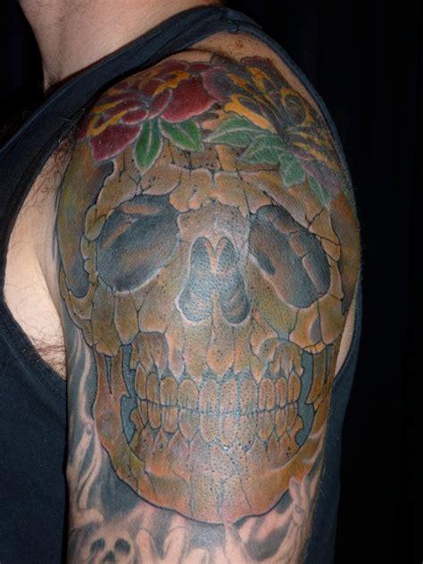 true nature tattoo skull cover