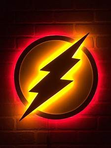 Fans, Of, The, Flash, Here, Ya, Go, This, Dual, Color, Led, Logo, Is