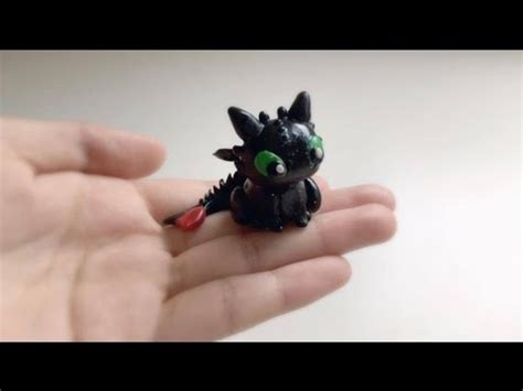 baby toothless polymer clay tutorial youtube