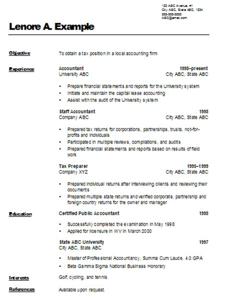 accountant cover letter resume sle and format for