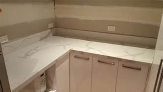 calacatta quartz kitchen install engineered - How To Install A Kitchen Island
