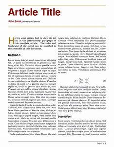 latex templates large colored title article With latex newspaper template