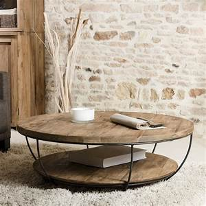 Table basse ronde noire double plateau 100cm Tinesixe So Inside