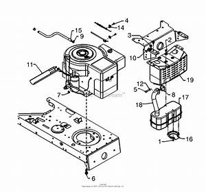 Mtd 13af660g352  2000  Parts Diagram For Muffler  U0026 Engine