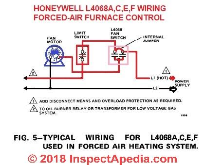 Switch Wire Diagram For Furnace by How To Install Wire The Fan Limit Controls On Furnaces