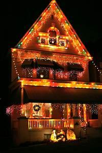 Christmas, House, Lights, At, Night, U2013, Ruth, E, Hendricks, Photography