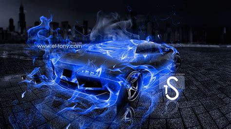 Lamborghini Fire Blue Hd Desktop Wallpaper, Instagram