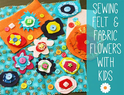 sewing  kids felt  fabric flowers   takes