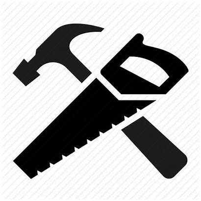 Hammer Saw Icon Tools Carpenter Carpentry Clipart