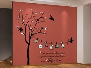 Wand Mit Bildern Gestalten : wandtattoo zweifarbiger baum mit fotorahmen ~ Sanjose-hotels-ca.com Haus und Dekorationen