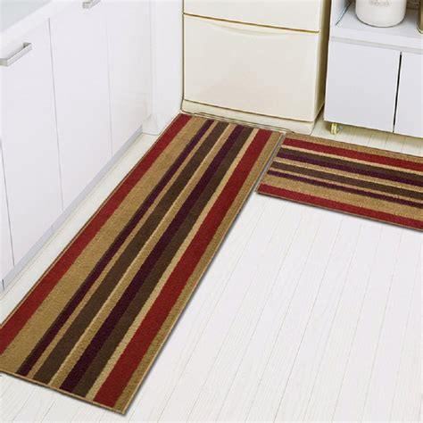 piece  slip kitchen mat rubber backing doormat runner