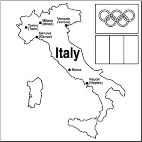 clip art  italy winter olympics map bw abcteach