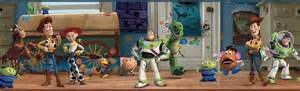 Kids Room Curtain Rods by York Wallpaper Toy Story 3 Disney Toy Chest Wall Border