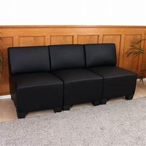 3 Sitzer Sofa : modular 3 sitzer sofa couch lyon kunstleder schwarz ohne armlehnen ~ Bigdaddyawards.com Haus und Dekorationen