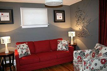 red sofa grey green walls google search new home