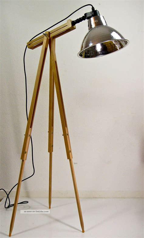 Vintage Stil by Dreibein Stehle Scheinwerfer Tripod Holz Stativ Le