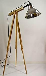 Retro Lampe Holz : stehlampe tripod holz schwarz ~ Indierocktalk.com Haus und Dekorationen