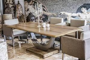 Designer Esstisch Holz : designtisch esstisch mit gestell aus edelstahl der tischonkel ~ Markanthonyermac.com Haus und Dekorationen