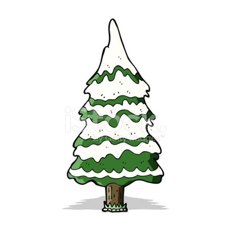 Type Of Christmas Trees by Cartoon Snowy Tree Stock Vector Freeimages Com