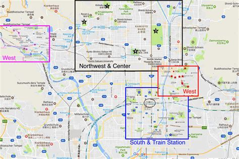 kyoto  day itinerary  places  visit map