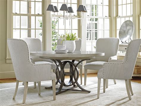 round wood dining room table oyster bay calerton round dining table lexington home brands