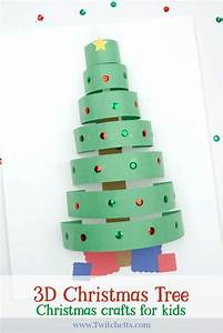 How, To, Make, A, Fun, 3d, Paper, Christmas, Tree, Craft, With, Construction, Paper