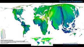 of Annual Rainfall (Precipitation) distribution in relation to people