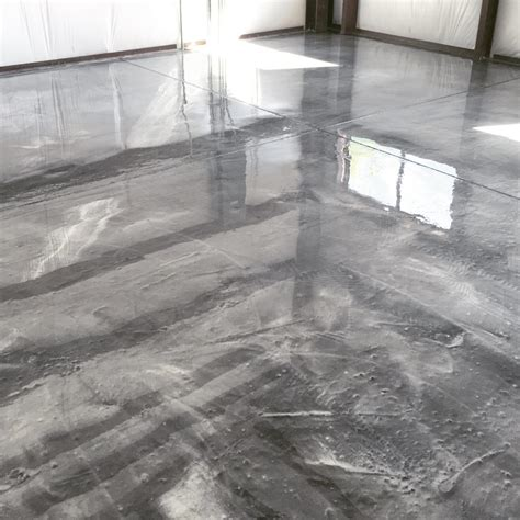 garage metallic epoxy flooring home ideas collection