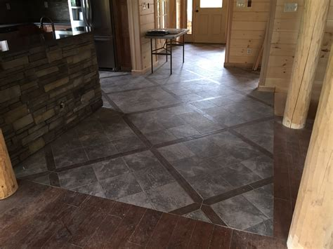 slate and wood floor a lifestyle roaring brook log homes roaring brook log homes 732 245 2962