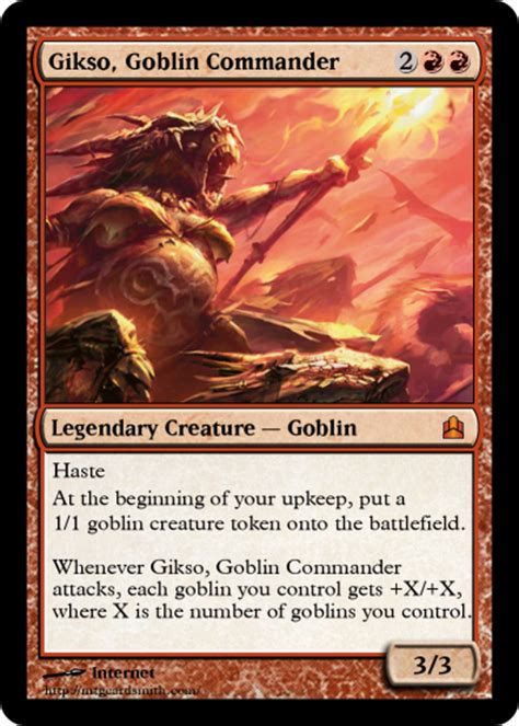 Goblin Commander Deck Wort by Gikso Goblin Commander By Pikapoleon Mtg Cardsmith
