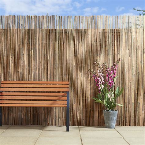 garden screening bamboo apollo screening bamboo slat 4m x 2m at wilko com