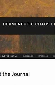 Hermeneutic Chaos-a Literary Journal