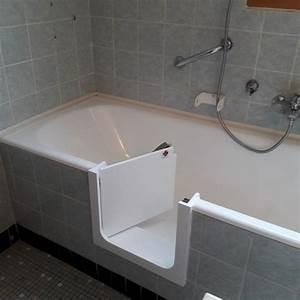 Porte Pour Baignoire : pose d 39 une porte confortbain hyseco ~ Premium-room.com Idées de Décoration
