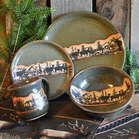 Elk Mountain Dinnerware: Cabin Place