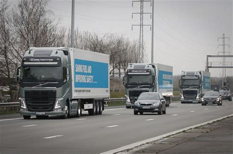 volvo group trucks technology successful journey for volvo s truck convoy through europe