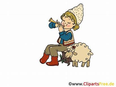 Clipart Hirte Schaf Sheep Birthday Cliparts Shepherd