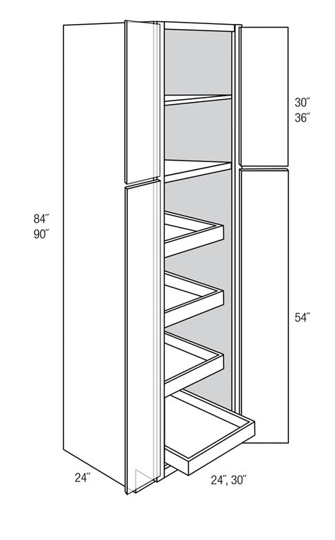 kitchen cabinet drawers wp2484brt pantry cabinet w roll out shelves bristol 2484