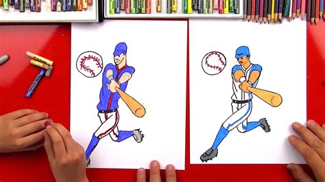 How To Draw A Baseball Player Art For Kids Hub
