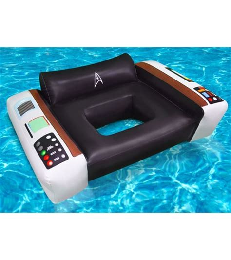 Trek Captains Chair Pool Float by Big Toys Officially Licensed Trek Captain S
