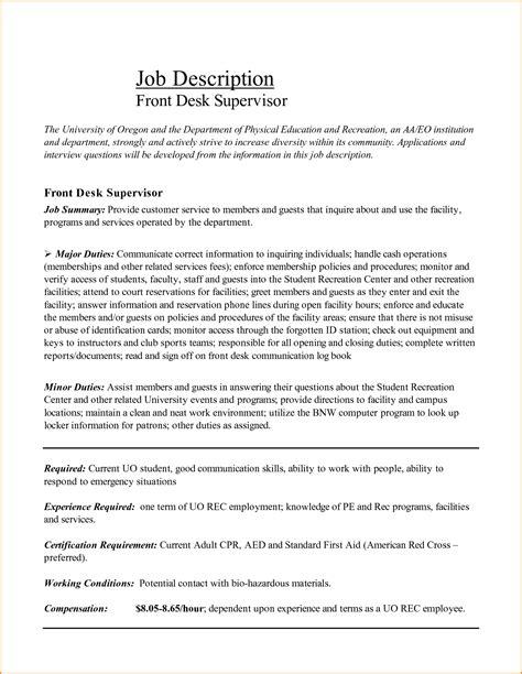 medical receptionist description 6 front desk receptionist job description invoice