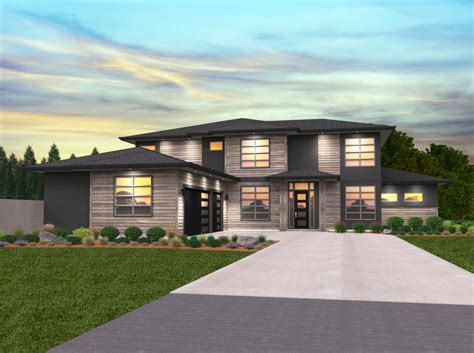 viking house plan  story modern home design   car garage