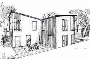 plan maison moderne a etage ooreka With dessin de belle maison