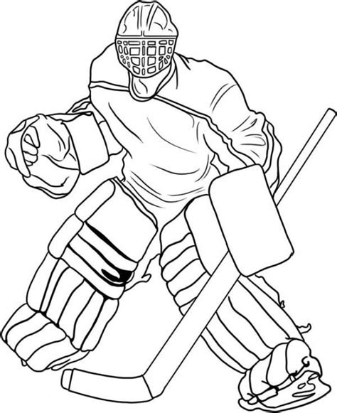 hockey coloring pages free pro hockey player coloring pages to print out