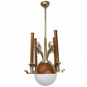 Italian s art deco chandelier at stdibs