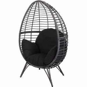 Fauteuil Bain De Soleil : fauteuil cocoon noir bain de soleil et hamac eminza ~ Teatrodelosmanantiales.com Idées de Décoration