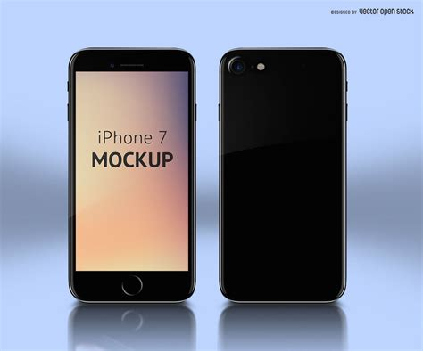 Iphone Mockup Psd Iphone 7 Mockup Template Psd Free Vector